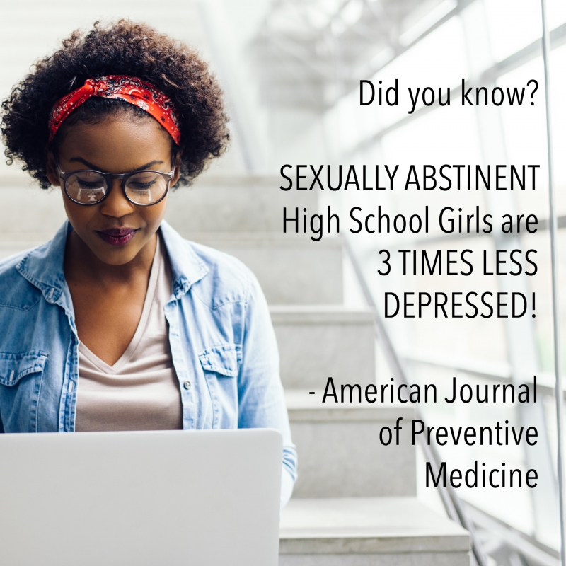 Did you know? SEXUALLY ABSTINENT High School Girls are 3 TIMES LESS DEPRESSED! - American Journal of Preventive Medicine