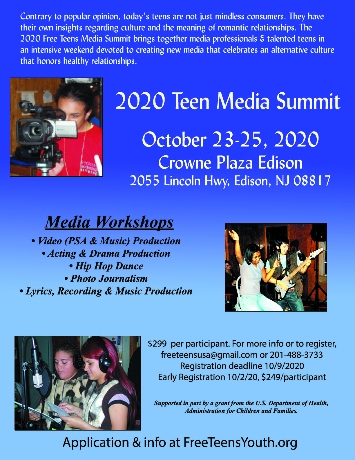 Teen Media Summit 2020 - Free Teens Youth - Changing Minds, Transforming Lives