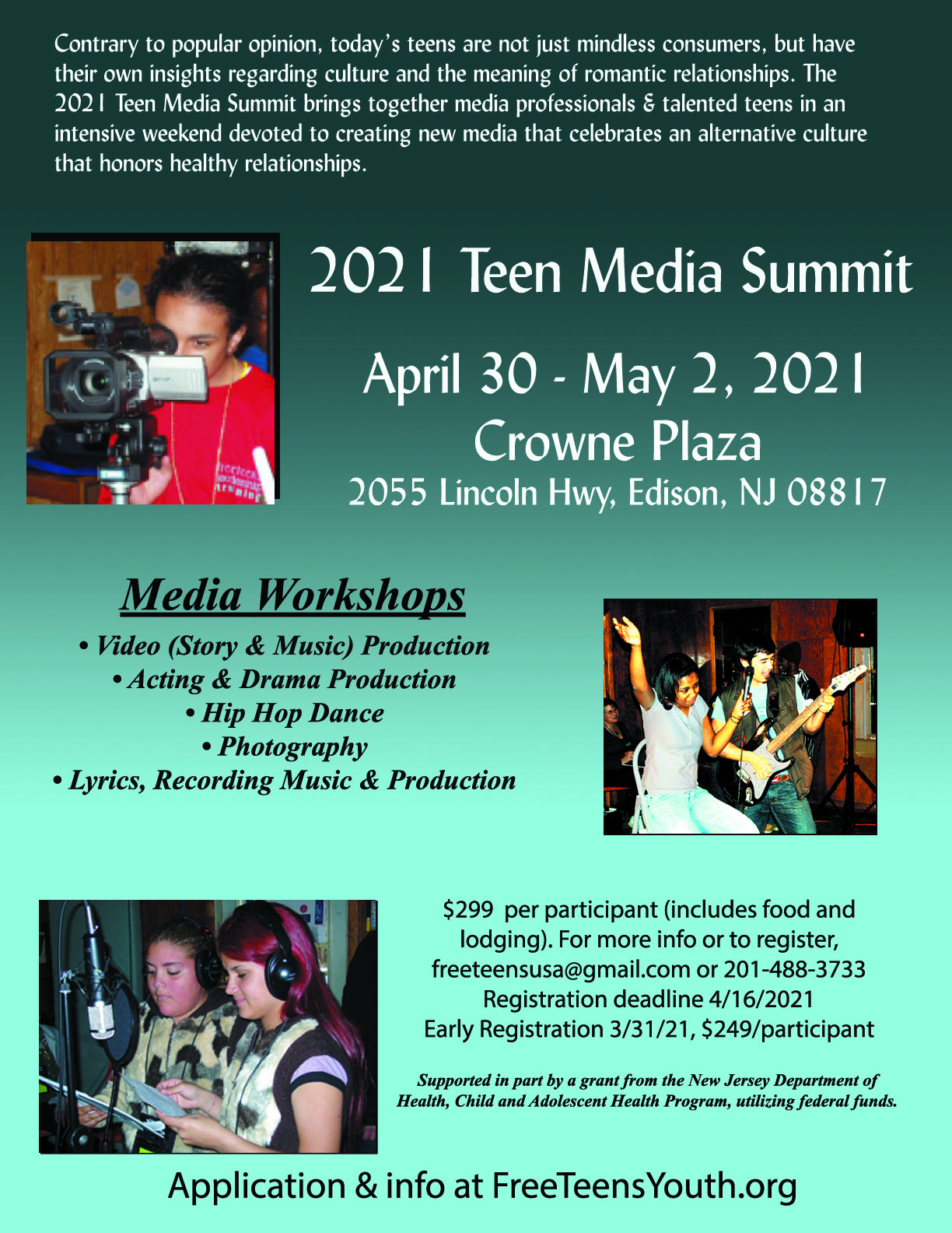 Teen Media Summit 2021 - Free Teens Youth - Changing Minds, Transforming Lives